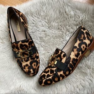 Louise et Cie Boise Calf Hair Leopard Loafers